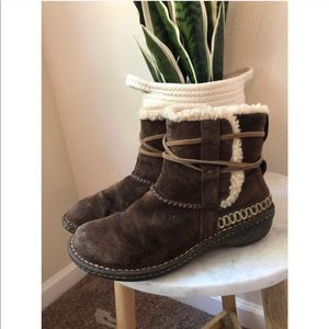 Ugg ankle tie suede leather booties